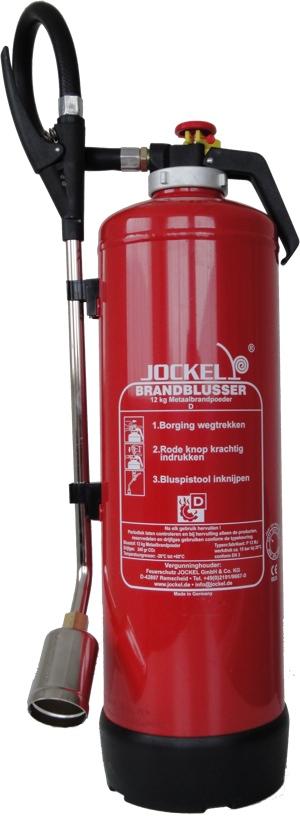 Speciaal geschikt voor het blussen van metaalbranden (D)