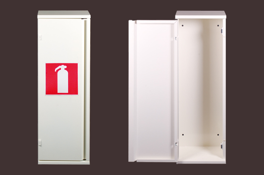 Blusserkast, type PL-1 – RAL 9010 – Reinweiß