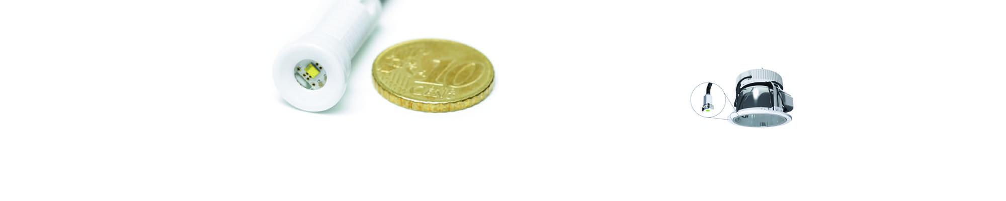 Teuben Brandbeveiliging is leverancier vanMicro Zen: de kleinste noodverlichting ter wereld