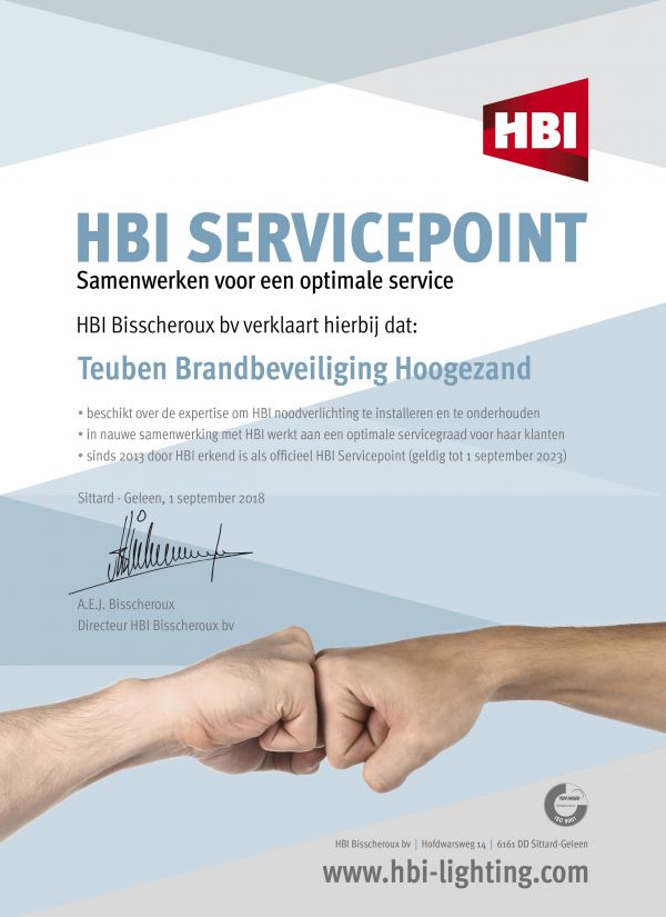 HBI service Point brandbeveiligingsbedrijf Hoogezand Sappemeer (Groningen, Friesland, Drenthe)